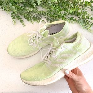 ADIDAS Green and White Ultra Boost Sneaker Size 13